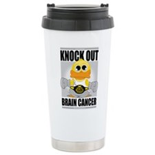 Knock Out Brain Cancer Travel Mug