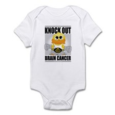 Knock Out Brain Cancer Infant Bodysuit