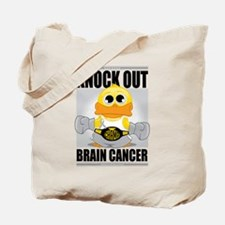 Knock Out Brain Cancer Tote Bag