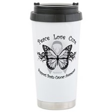 Brain Cancer Tribal Butterfly Travel Mug