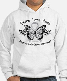 Brain Cancer Tribal Butterfly Hoodie