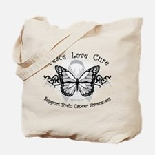 Brain Cancer Tribal Butterfly Tote Bag