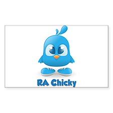 Ra Chicks Cute Blue Chicky Decal