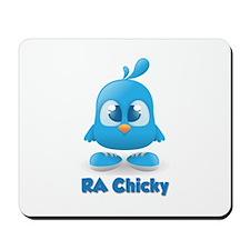 Ra Chicks Cute Blue Chicky Mousepad