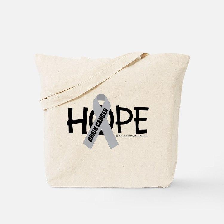 Brain Cancer Hope Tote Bag