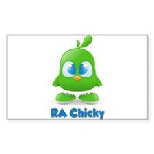 RA Chicks Cute Green Chicky Decal
