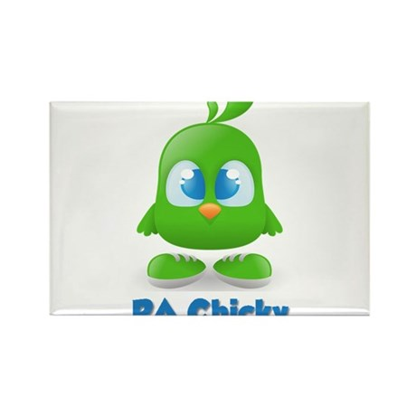 RA Chicks Cute Green Chicky Rectangle Magnet