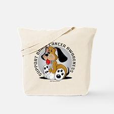 Brain Cancer Dog Tote Bag