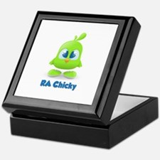 RA Chicks Cute Lime Green Chi Keepsake Box