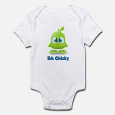 RA Chicks Cute Lime Green Chi Infant Bodysuit