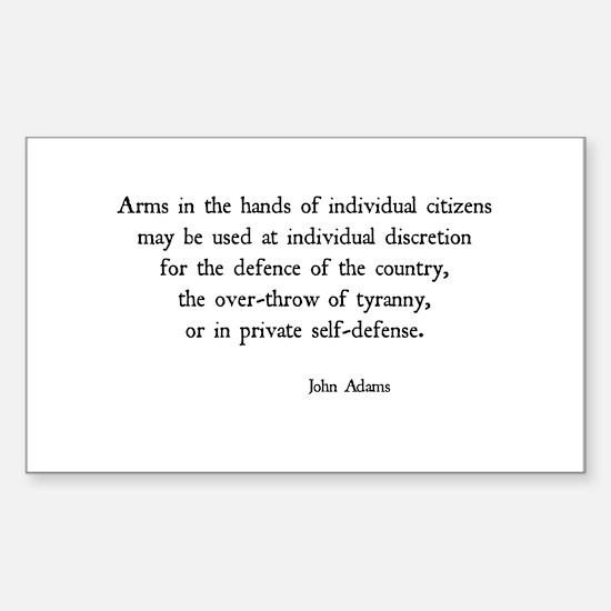 John Adams Sticker (Rectangle)