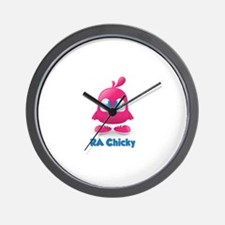 RA Chicks Cute Pink Chicky Wall Clock