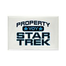 Blue Property Star Trek - VOY Rectangle Magnet