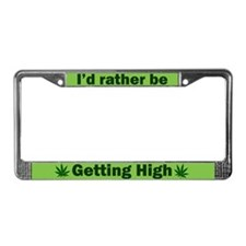 Funny Cannabis License Plate Frame