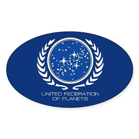 United Federation of Planets Sticker (Oval 10 pk)