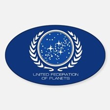 United Federation of Planets Sticker (Oval)