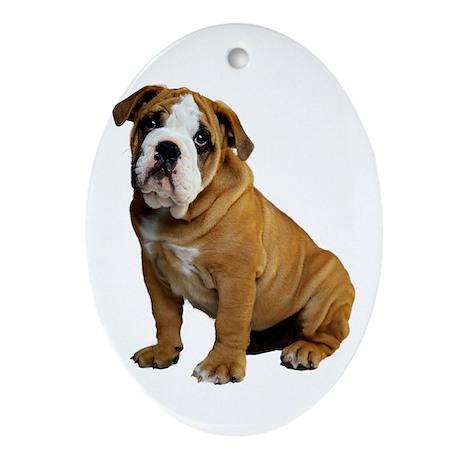 English Bulldog Ornament (Oval)