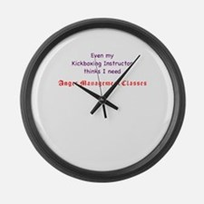 Cool Anger management Large Wall Clock