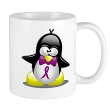 Purple Awareness Ribbon Pengu Mug