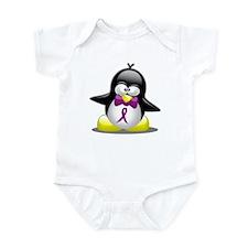 Purple Awareness Ribbon Pengu Infant Bodysuit