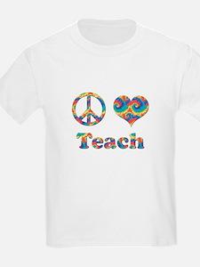 2-peace love teach copy T-Shirt