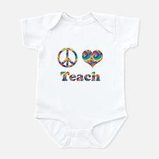 2-peace love teach copy Body Suit