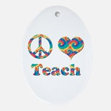 Cute Education Oval Ornament