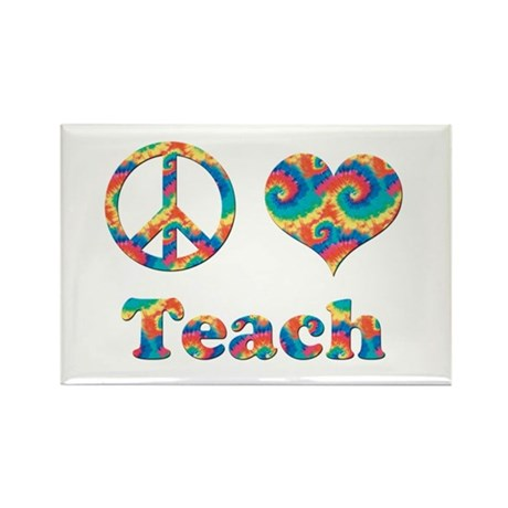 2-peace love teach copy Magnets