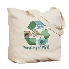 Recycling is Key Tote Bag