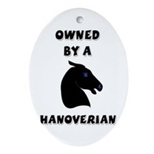 Hanoverian Horse Oval Ornament
