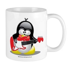 Electric Guitar Penguin Mug