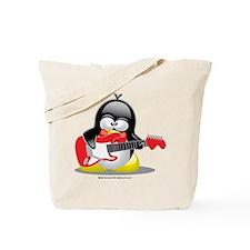 Electric Guitar Penguin Tote Bag