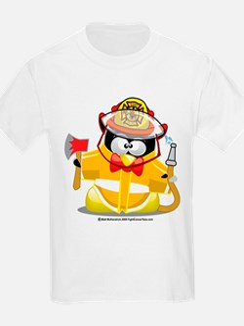 Fireman Penguin T-Shirt