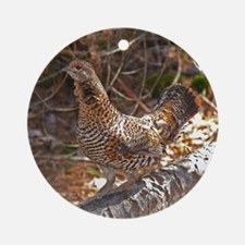 Female Spruce Grouse 2 Ornament (Round)