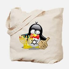 Penguin Hanukkah Tote Bag