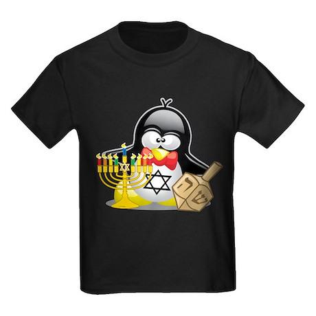 Penguin Hanukkah Kids Dark T-Shirt