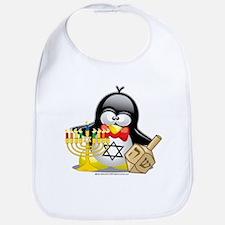 Penguin Hanukkah Bib
