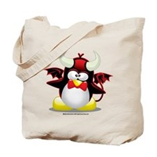 Devil Penguin Tote Bag