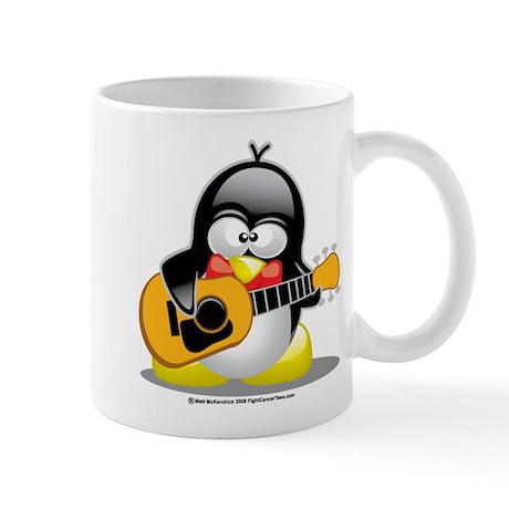 Guitar Penguin Mug