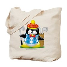 Golf Penguin Tote Bag