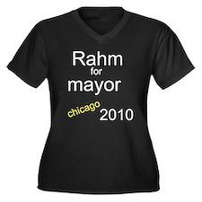 Mayor rahm emanuel Women's Plus Size V-Neck Dark T-Shirt