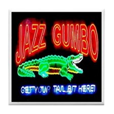 Jazz Gumbo Tile Coaster