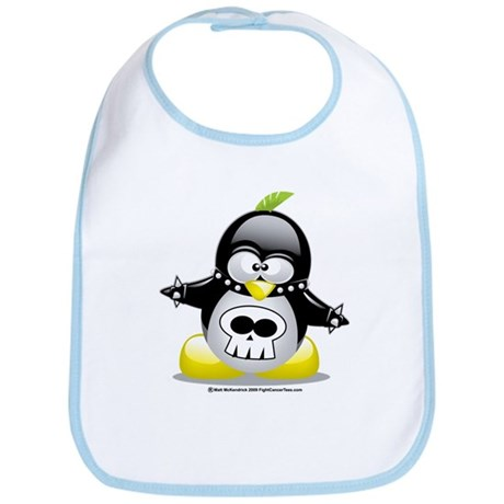 Punk Penguin Bib