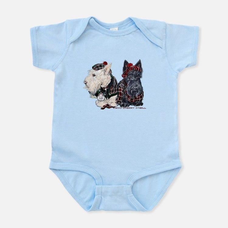 Scottish Highland Terriers Infant Bodysuit