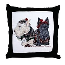 Scottish Highland Terriers Throw Pillow