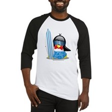 Surfer Penguin Baseball Jersey