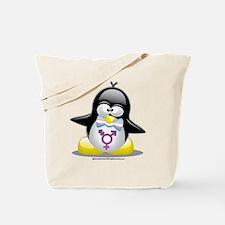Transgender Penguin Tote Bag