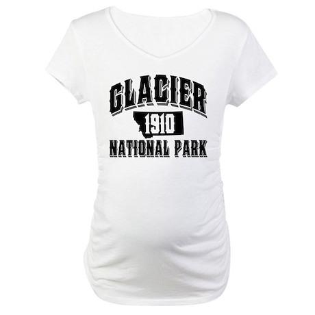 Glacier Old Style Black Maternity T-Shirt