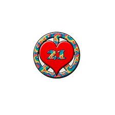 Cute 21 years old Mini Button
