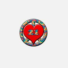 Unique Turning 21 Mini Button